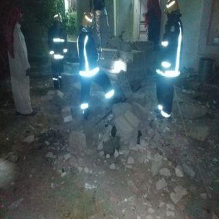 وفاة طفلة وإصابة طفلتين في سقوط جدار بعقيق الباحة