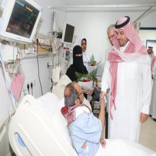 أمير #الشمالية يهنئ المرضى المنومين بشهر رمضان المبارك