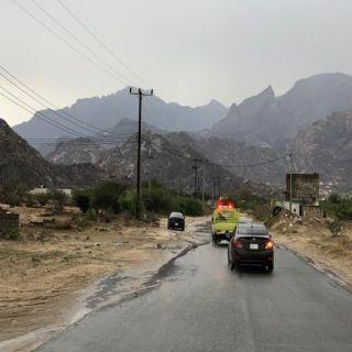 """فيديو - """"وطنيات"""" ترصد أمطار وادي الخير بثلوث المنظر اليوم 9/20"""