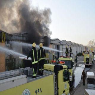 مدني #الرياض يُخمد حريق نشب في مستودعات بحي الفيصلية