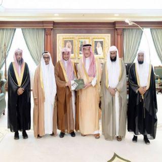سمو أمير #جازان يستقبل رئيس وأعضاء جمعية تحفيظ القرآن الكريم بالمنطقة