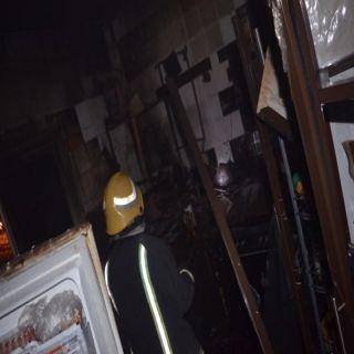 مدني #تبوك يخمد حريق بشقة سكنية بحي السليمانية