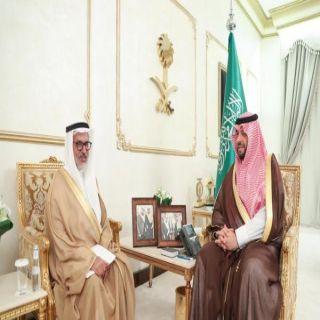 سمو الأمير فيصل بن خالد بن سلطان يستقبل مدير جامعة الحدود الشمالية