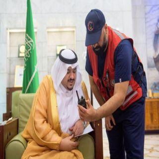سمو أمير منطقة الرياض بالنيابة يدشن مراكز إسعاف حي الخليج وحي النهضة بالرياض