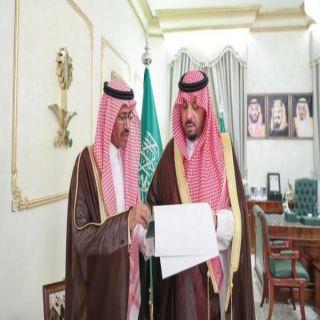 سمو الأمير فيصل بن خالد بن سلطان يستقبل مدير إدارة خدمات المياه بالمنطقة