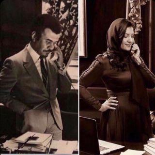 الأميرة السفيرة تقف خلف مكتب والدها قبل 35 عاماً