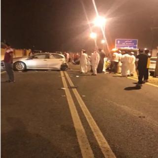 """وفاة """"5"""" وإصابة """"2"""" بحادث سير بعقبة سنان شرق #المجاردة"""