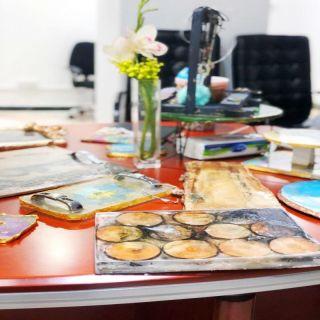 """فنون #عرعر تُنفذ دورة تدريبية في فن """"الريزن"""""""