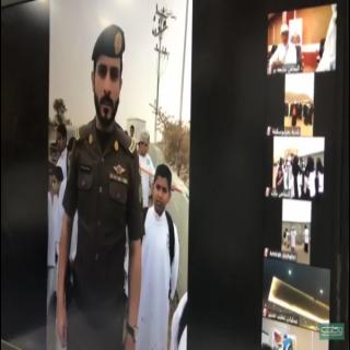 أمير عسير في بث مباشر يوجه بتكريم أحد افراد شرطة #تنومة