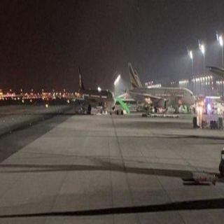 حادث إحتكاك طائرتين بمطار الملك عبدالعزيز في #جدة