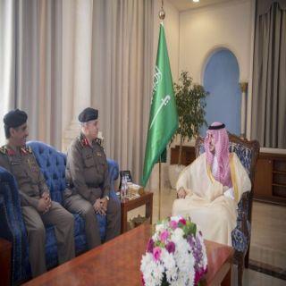 أمير #الجوف يستقبل مدير شرطة المنطقة ومدير المرور المعين حديثاً