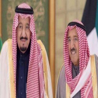 خادم الحرمين الشريفين في إتصال هاتفي يُطمئن على صحة أمير #الكويت