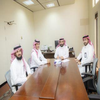 مكتب شؤون الخريجين  بـ #جامعة_القصيم يستقبل وفد من صندوق الموارد البشرية «هدف»