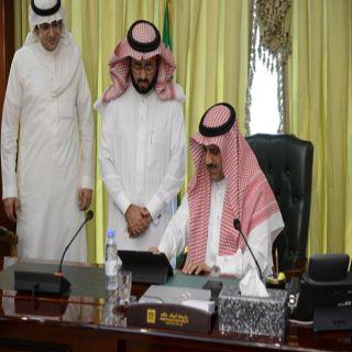 """مدير جامعة الملك خالد يدشن نظام """"مباشر"""" للاستفسارات والملاحظات"""