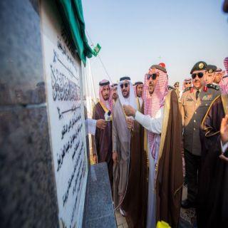 الأمير فيصل بن مشعل يدشن سارية بيرق الرياض بطول 100 متر بمدينة بريدة