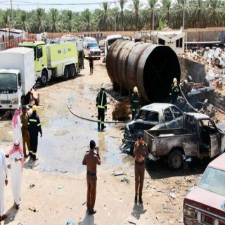 وفاة مُقيم حرقاً في حادث حريق بتشليح السيارات في #عنيزة