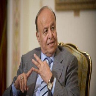 هادي في ذكرى ثورة «14 أكتوبر يتهعد بإسقاط الإنقلابيين وإستعادة صنعاء