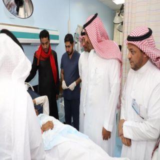 ال ملحم والحياني وعسيري والطاير يطمئنون على طلاب تعرضوا لحادث سير ببحر أبوسكينة