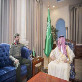 سمو أمير #الجوف يستقبل مُدير #الجوازات المُعين حديثاً