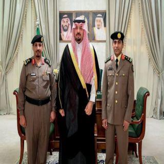 """سمو أمير الشمالية يستقبل مدير شرطة المنطقة المُعين حديثاً العميد""""العمري"""""""