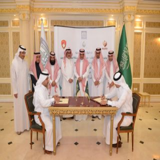 مدير #جامعة_الملك_خالد يشهد توقيع اتفاقيتي تعاون وعقد استشاري مع 3 جهات بالمنطقة