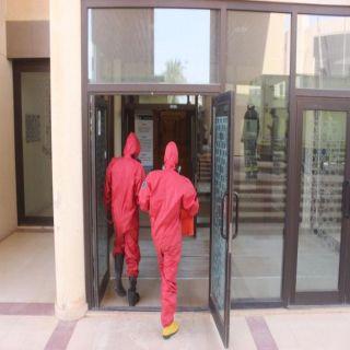 مدني القصيم يسيطر على تسرب غاز بكلية الطب في #بريدة
