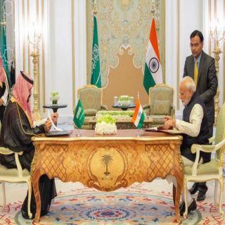 سمو ولي العهد ورئيس الوزراء الهندي يوقعان على اتفاق إنشاء مجلس الشراكة الاستراتيجية السعودي الهندي