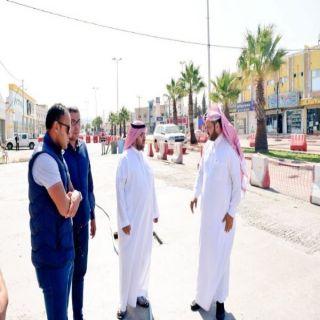 بالصور - رئيس بلدية #تنومة يقف ميدانياً على عدد من المشاريع البلدية