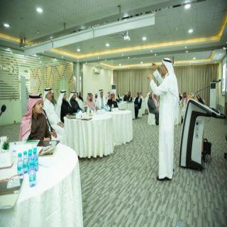 """#جامعة_المستقبل بالقصيم تنظم ورشة العمل """"التحليل البيئي والخطط الاستراتيجية"""""""