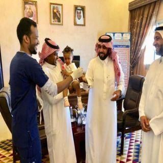 رئيس مركز #بحر_ابو_سكينة يدشن حملة التطعيم ضد شلل الأطفال