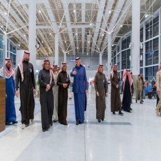 سمو أمير الشمالية يتفقد مشروع تطوير مطار عرعر