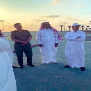 أمين عسير يقف على إستعدادت افتتاح واجهة عسير البحرية