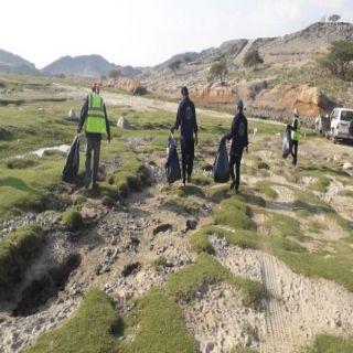 بلدية #بارق تُعالج التشوه البصري بوادي البرداني .. ومُطالبات بجعله واجهة سياحية