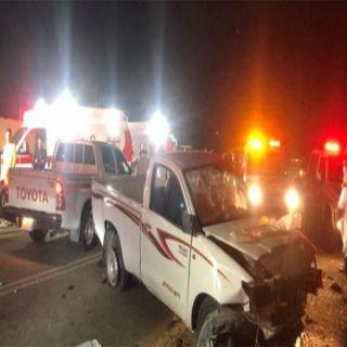حادث تصادم بطريق يبس بالباحة يُخلف 6 إصابات إحداها خطيرة