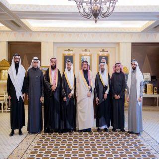 الأمير فيصل بن مشعل يستقبل رئيس وأعضاء جامعة سليمان الراجحي