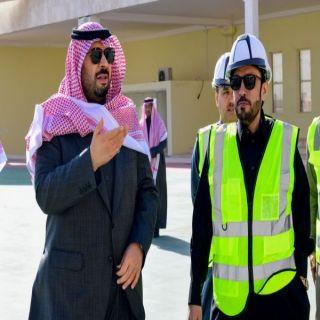 أمير #الشمالية يتفقد مشروع  المركز الحضاري بمدينة #عرعر