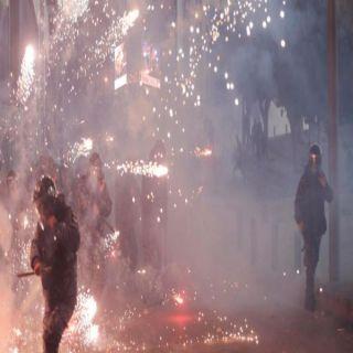 مئات الجرحى بين المتظاهرين والأمن اللبناني