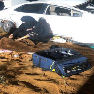 ممرضة سعودية تشارك في إنقاذ حياة أربعة أشخاص تعرضوا لحادث مروري في #القصيم