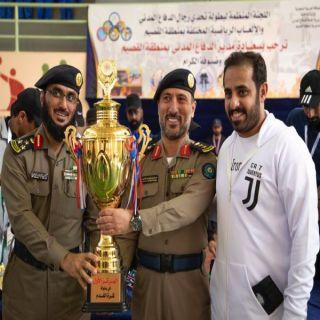 مدني القصيم يختتم مسابقة  تحدي رجال الدفاع المدني