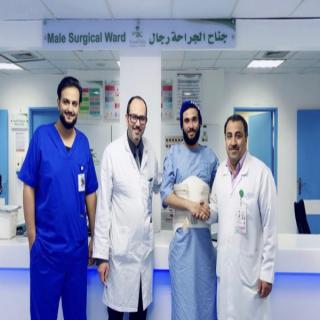 تدخل جراحي ناجح يعيد الحركة لمريض بحفرالباطن