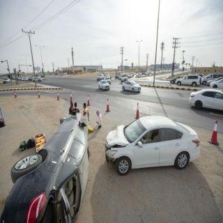 #جامعة_القصيم تنفذ «حادث افتراضي» بالطريق العام لتوعية السائقين بخطورة القيادة غير الآمنة