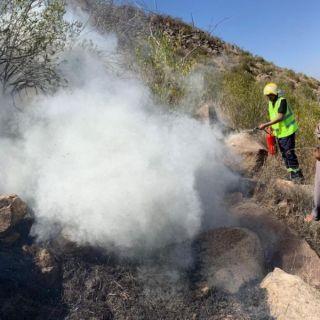 الدفاع المدني يُسيطر على حريق جبل الصليل بمحافظة الداير في #جازان