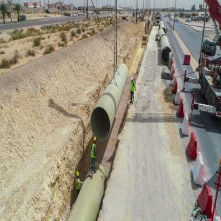 #أمانة_الشرقية مشروع تصريف مياه الأمطار في ضاحية الملك فهد بالدمام بلغ مراحل متقدمة