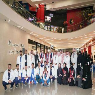"""#جامعة_الملك_سعود للعلوم الصحية تنظم حملة توعوية بعنوان """" التطعيم وقاية"""