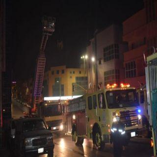 اصابة ( 6 ) أشخاص في حريق غرفة  بشقق  فندقية في #بريدة