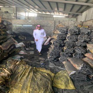 #البيئة :ضبط ومُصادرة كمية كبيرة من الحطب والفحم في #محايل