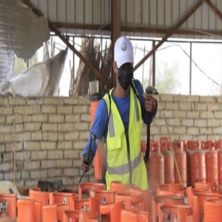 بلدية بارق تُطلق حملة تطهير وتعقيم إسطوانات الغاز