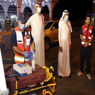 فرع الهلال الأحمر وبتعاون مع القطاع الصحي في #بارق يُنفذان حملة توعية بفيروس #كورونا