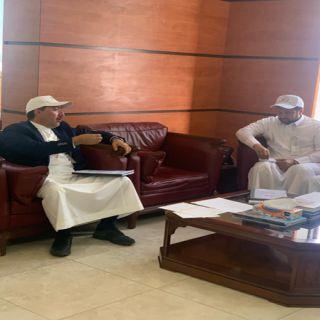 الدكتور الحميدي يستقبل رئيس بلدية محايل واعضاء بلدي المُحافظة
