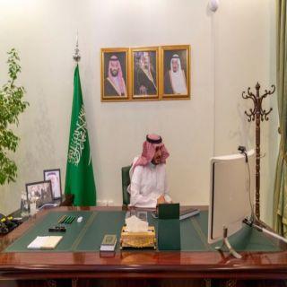 سمو أمير #الجوف يطمئن في اجتماع مرئي على الحالة الصحية للمصابين #كورونا